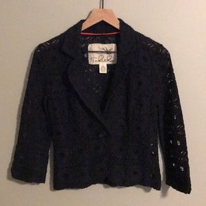 Anthropologie Tabitha Lace Embroidered Jacket